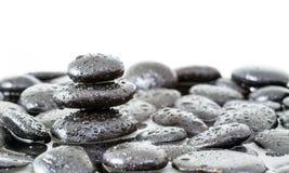 Pietre di zen della stazione termale fotografia stock