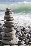 Pietre di zen impilate Fotografia Stock Libera da Diritti