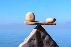 Pietre di zen nell'equilibrio Fotografia Stock