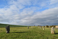 Pietre diritte di Avebury Fotografia Stock