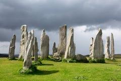 Pietre diritte in Scozia Fotografia Stock Libera da Diritti