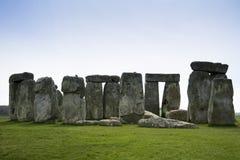 Pietre diritte Wiltshire Inghilterra di Stonehenge Immagine Stock
