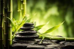 Pietre e bambù di zen Fotografia Stock Libera da Diritti