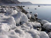 Pietre e ghiaccio Immagini Stock