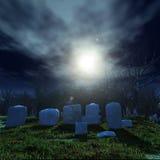Pietre ed alberi alla notte Fotografia Stock Libera da Diritti