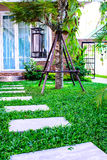 Pietre facenti un passo del giardino Fotografia Stock
