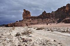 Pietre geologiche della sosta Timna Fotografie Stock Libere da Diritti