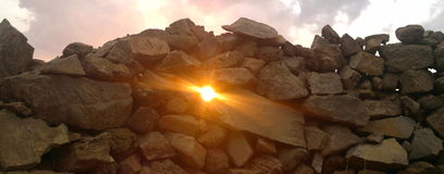 pietre impilate Fotografia Stock