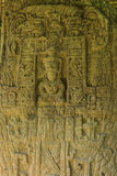 Pietre maya scolpite, rovine di Quirigua, Guatemala Immagini Stock Libere da Diritti