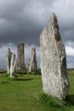 Pietre megalitiche in Scozia Immagine Stock