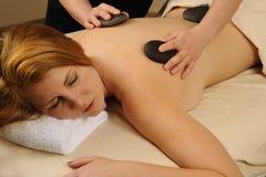 Pietre minerali calde della lava di massaggio Immagine Stock