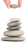 Pietre in mucchio equilibrato Fotografia Stock