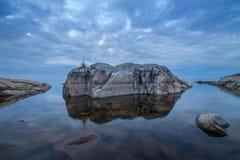 Pietre nel lago ladoga in Carelia, Russia Fotografia Stock