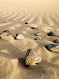 Pietre nella sabbia Fotografie Stock Libere da Diritti