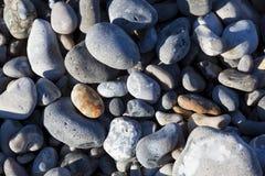 Pietre nella spiaggia, Le Hourdel, Somme immagini stock
