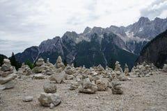 Pietre nelle alpi slovene Immagine Stock