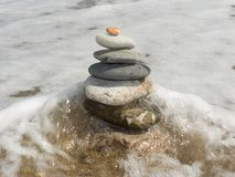 Pietre per la meditazione immagine stock