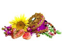 Pietre preziose e fiori Fotografie Stock