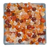 Pietre preziose sul vetro Fotografia Stock