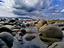 Pietre a Strandhill, Irlanda fotografia stock libera da diritti