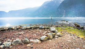 Pietre su Eidfjord Fotografia Stock Libera da Diritti