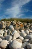 Pietre su una spiaggia Immagini Stock