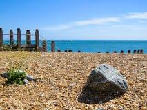 Pietre sulla costa di mare Fotografia Stock