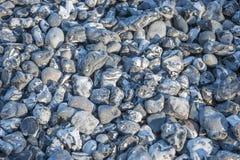 Pietre sulla riva in Sassnitz fotografia stock