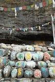 Pietre tibetane di preghiera Fotografia Stock