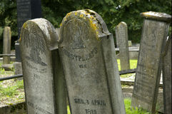 Pietre tombali di Halloween Fotografia Stock Libera da Diritti