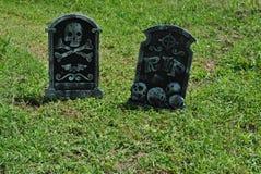 Pietre tombali false di Halloween Fotografia Stock