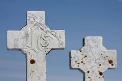 Pietre tombali trasversali Fotografia Stock Libera da Diritti