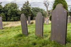 Pietre tombali in un cemetey Fotografia Stock Libera da Diritti