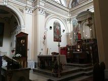 Pietrelcina - altare del santuario diocesano Fotografia Stock Libera da Diritti