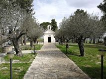 Pietrelcina - Avenue of access to the Church of San Francesco stock image