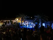 """Pietrelcina - Dr. Jazz & Dirty Burks Swing Band in """"Jazz sotto le stelle"""". Pietrelcina, Benevento, Campania, Italy - July 29, 2018: Live music in a square in Stock Photo"""
