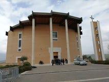 Pietrelcina - fältprästPio Santo liturgisk korridor arkivbilder
