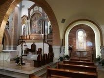 Pietrelcina - vista degli altari Immagini Stock Libere da Diritti