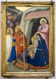 Pietro Lorenzetti La adoración de unos de los reyes magos Hacia 1335-1340 L Imagen de archivo