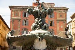 Pietro Tacca bronsspringbrunn, skulptör Fyrkant av Santissimaen Annunziata i Florence Italy arkivbild