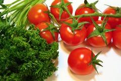 pietruszka czereśniowi pomidory zdjęcia stock