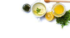 Pietruszki herbata z cytryną i miodem Obraz Stock