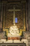 The Piety of the Vatican or Pieta in the Papal basilica of Saint Stock Photo