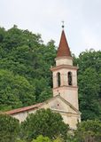 Pieve amidst the forest place of prayer and meditation Stock Images