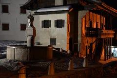 Pieve di Cadore, provincia di Belluno, dolomia italiane Fotografia Stock Libera da Diritti