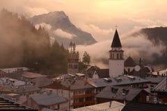 Pieve di Cadore Süd-Tirol Stockfotos