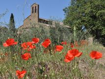 Pieve near Castelmuzio  in Tuscany Stock Photos
