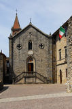 Pieve Saint Mary in Pietralunga. The main square of a typical small umbrian town Royalty Free Stock Photos