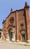 Pieve Santa Maria Assunta facade, Soncino Stock Photography