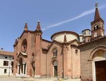 Pieve Santa Maria Assunta, Soncino Fotos de archivo libres de regalías